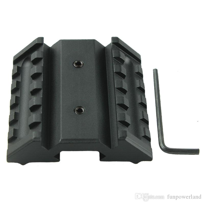 Funpowerland Tactical 45 Degree Offset Mount Dual 20mm W/ Picatinny Rail For Sight Flashlight Laser