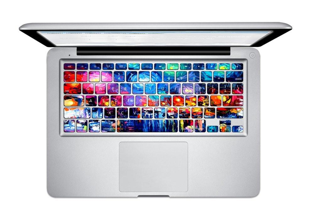 반 고흐 키보드 스티커 커버 Macbook Air 13 Pro 및 Pro Retian 13 15 17 인치 키보드 보호기 스킨 스티커