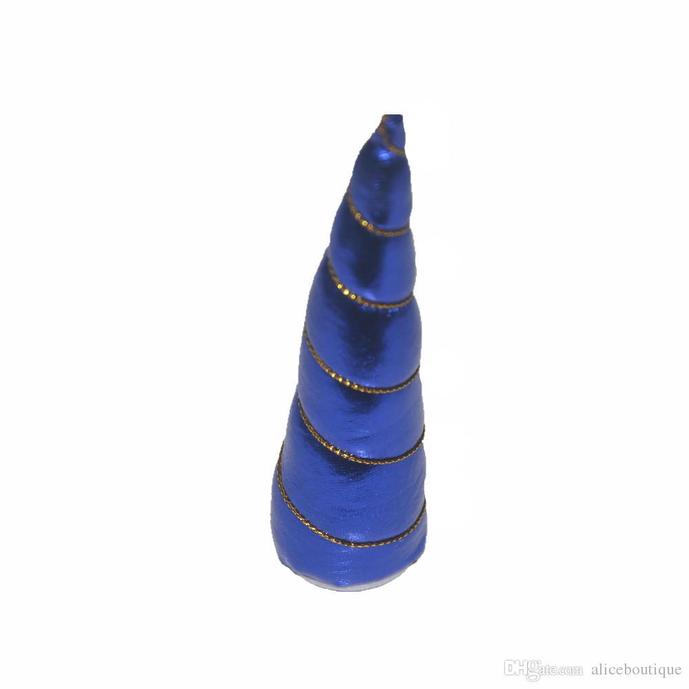 Livraison gratuite / Métallique Feutre Licorne Corne Enfants Fête D'anniversaire Festival Cosplay Chapeaux Accessoires H0314