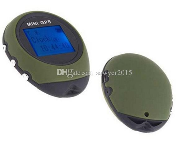 PG03 Mini GPS Receiver Navigation Handheld Location Finder USB Rechargeable with Compass for Outdoor Sport Travel Green/Yellow