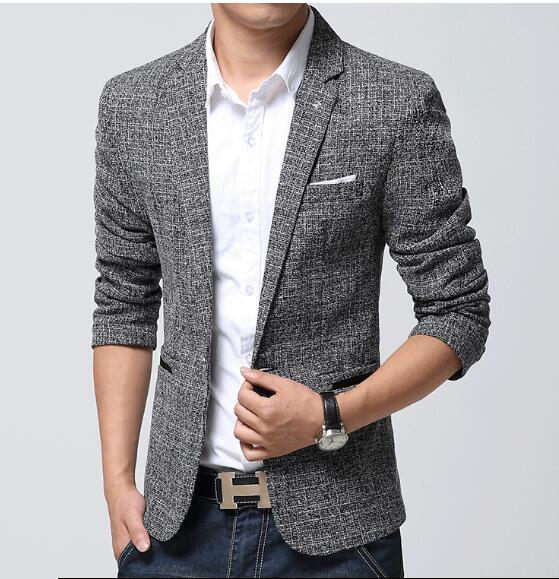 Best Wholesale British'S Style New Brand Blazer Men Linen Casual ...