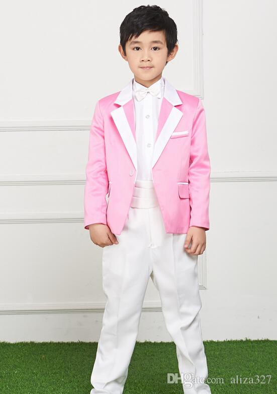 115fef5c8b The New Boy S Small Suit Flower Girl Dress Students Children Wedding Dress  Suit Boys Costumes Coat + Pants Custom Made Page Boy Outfits For Weddings  Pageboy ...