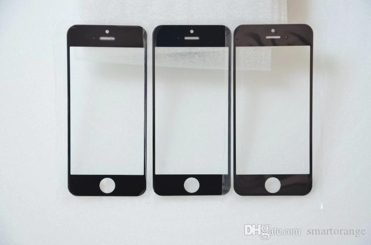 Black White High Quality New Outer Glass for iPhone 5 5G 5S 5C LCD Touch Screen Digitizer Front Glass Lens Repair