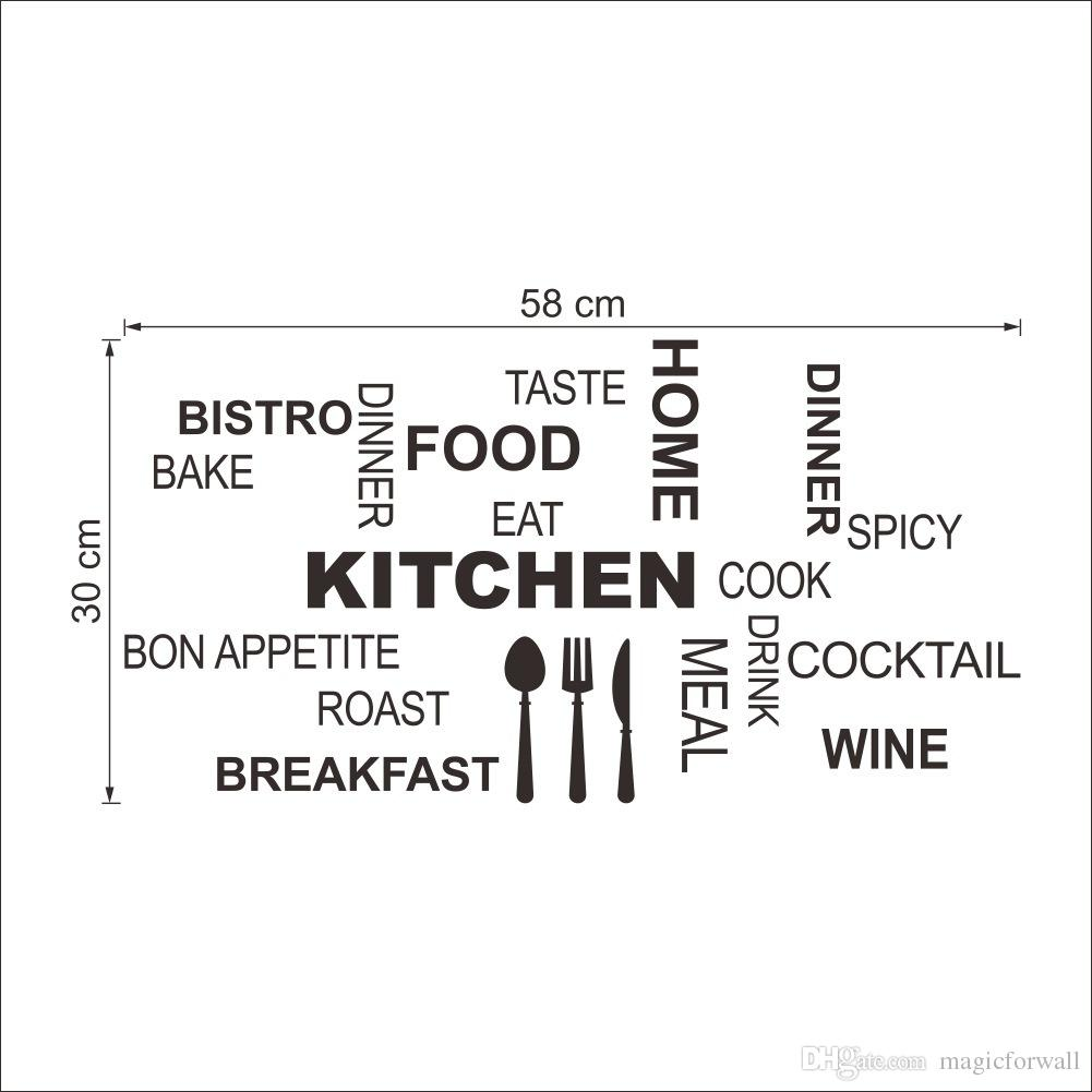 Kitchen Wall Quote Decal Decor Art Mural Poster With Letter For Room Dinning Decoration Home Wallpaper Stickers