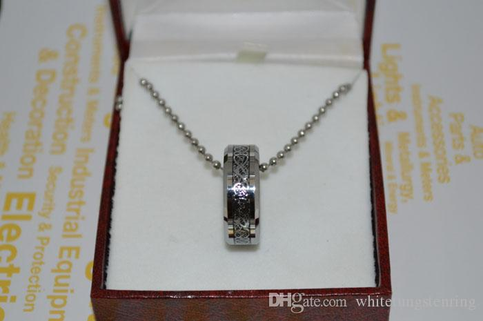 Dragon inkrustowany węglik z węglika z węglika Silver inkrustowane pierścionki