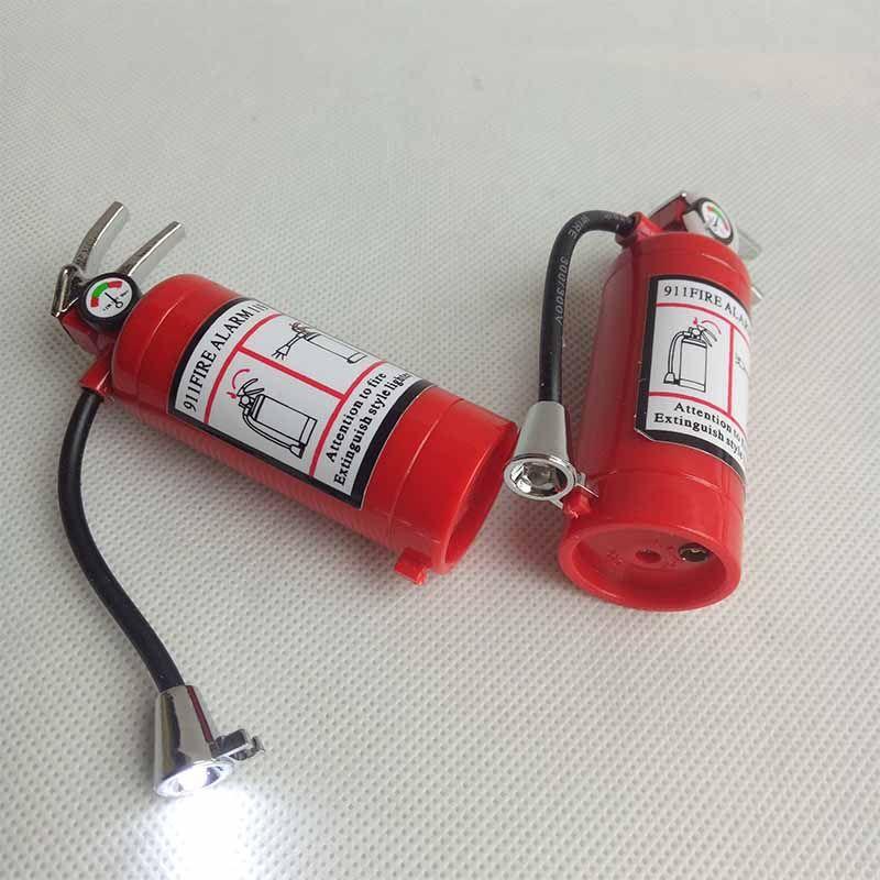 Feuerlöscher Stil Butan Jet Feuerzeug Zigarette Zigarette mit LED-Taschenlampe Nachfüllbar Nein Gas Raucher Werkzeug Feuerzeuge