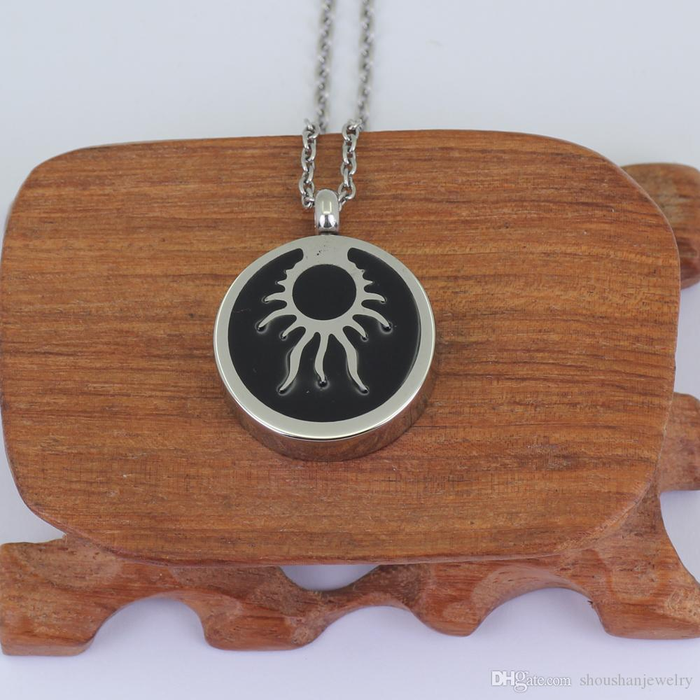 Memory Necklace Tribal Sun Cremation Urn Pendant P712