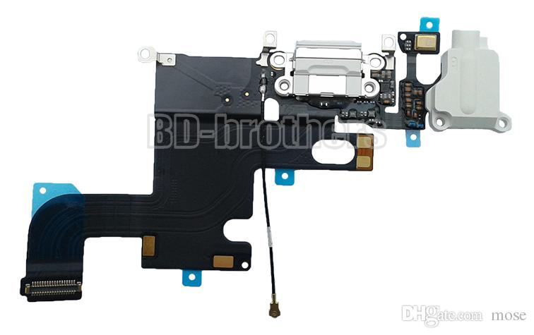 100% new original de áudio fone de ouvido jack de carregamento dock connector porta carregador flex cable para 4.7 polegada / 5.5 polegada iphone 6g 6 plus 10 pçs / lote