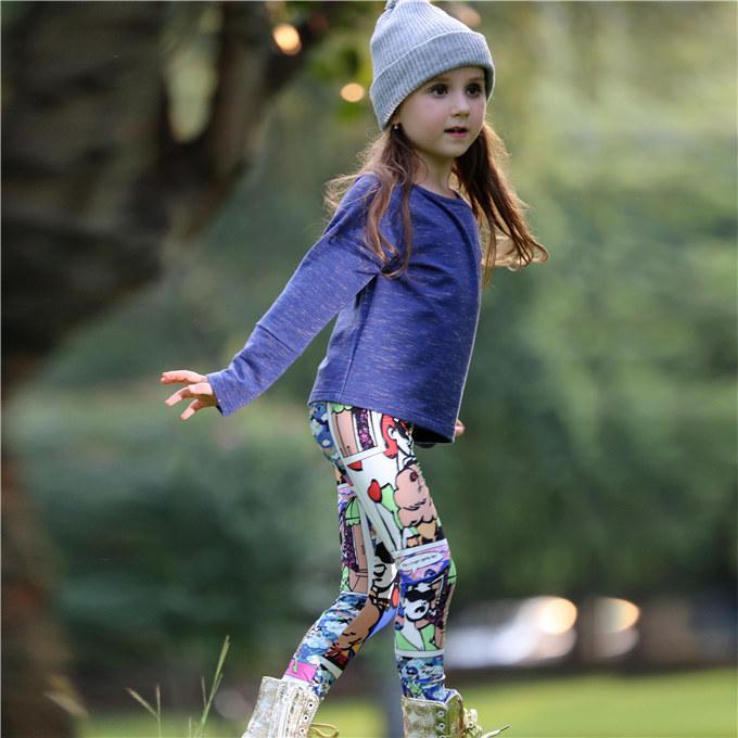 Pettigirl Весна девушки комплекты одежды с твердой верхней и мультфильм брюки хлопок дети девушка наряды для детской одежды CS80813-72F