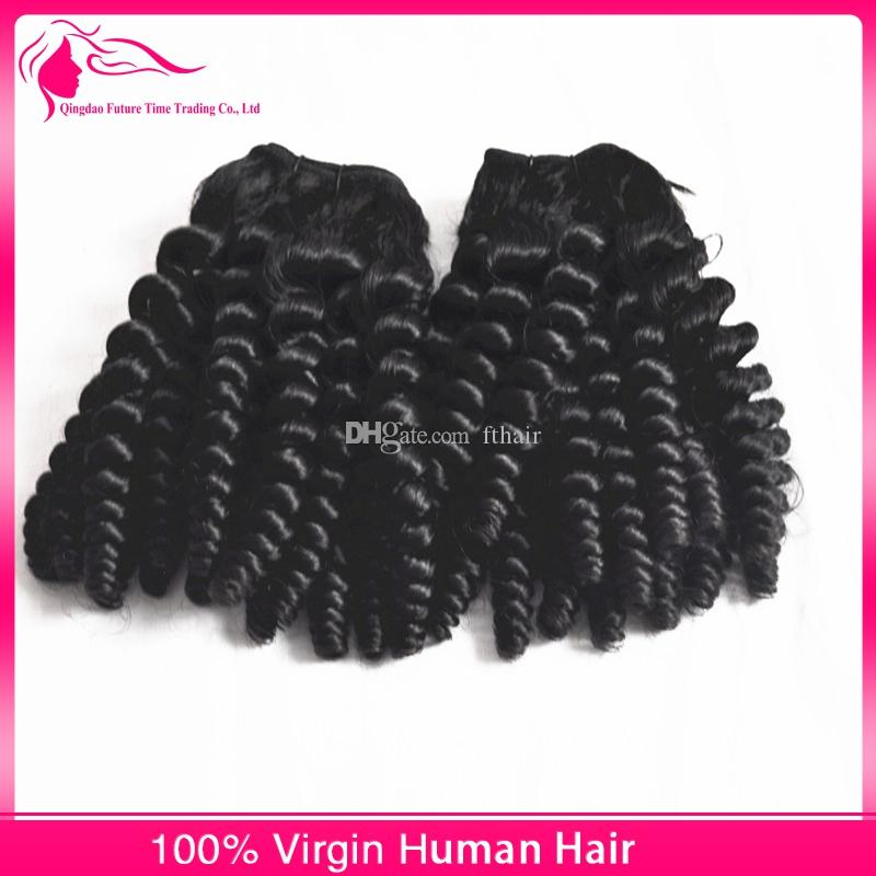 Popular Aunty Funmi Hair Romance Curl Spring Curl 100% Virgin Peruvian Remy Human Hair Extensions Bouncy Curly 10--30'' DHL Ship