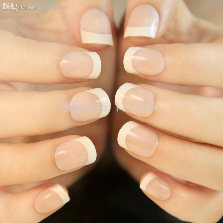Wholesale Short French False Nails Newair Faux Ongles Nail Tips ...