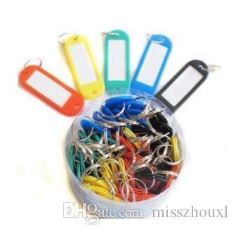 Livraison gratuite Porte-clés en plastique ID Tags Nom de la carte Étiquette Luggage Tags Keychain Assorted
