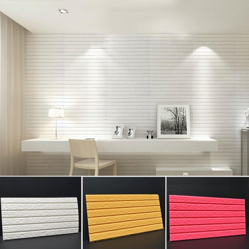 30*60cm Pe Foam 3d Flexiable Brick Wall Stickers Diy Self Adhesive Cultural  Brick Pattern Waterproof Wallpaper Decorative Sticker Wall Decals Removable  Wall ...
