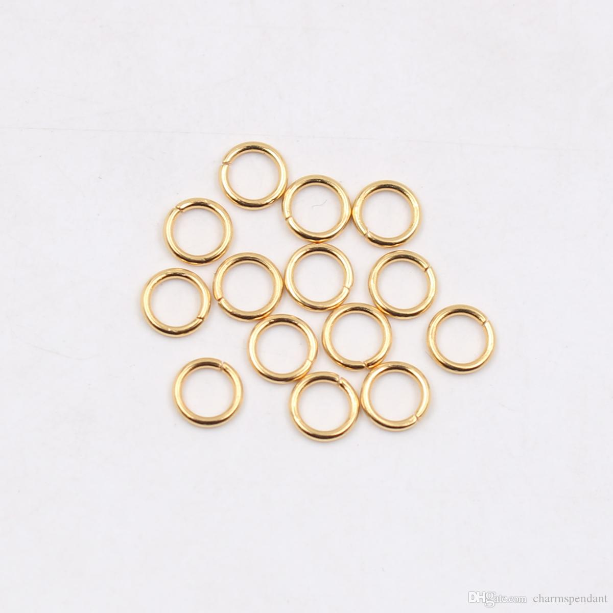 wholesale Stainless steel Open Jump Ring Split Ring 5x1mm / 6*1mm / 7*1mm / 8*1mm Jewelry Finding Silver Polished fashion DIY Gold
