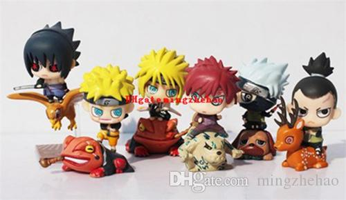 NEW hot Naruto Action Figure Toys Uchiha Sasuke Uchiha Madara Q Version Anime pvc Figure Toys Dolls Model Kids Phone Accessories