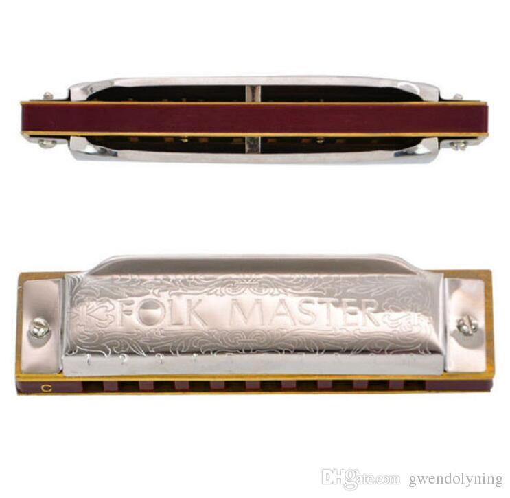 Folkmaster 1072 Standard Beginner Diatonic Blues Harmonica Gaita 10 fori Key of A C D E F G Strumento musicale