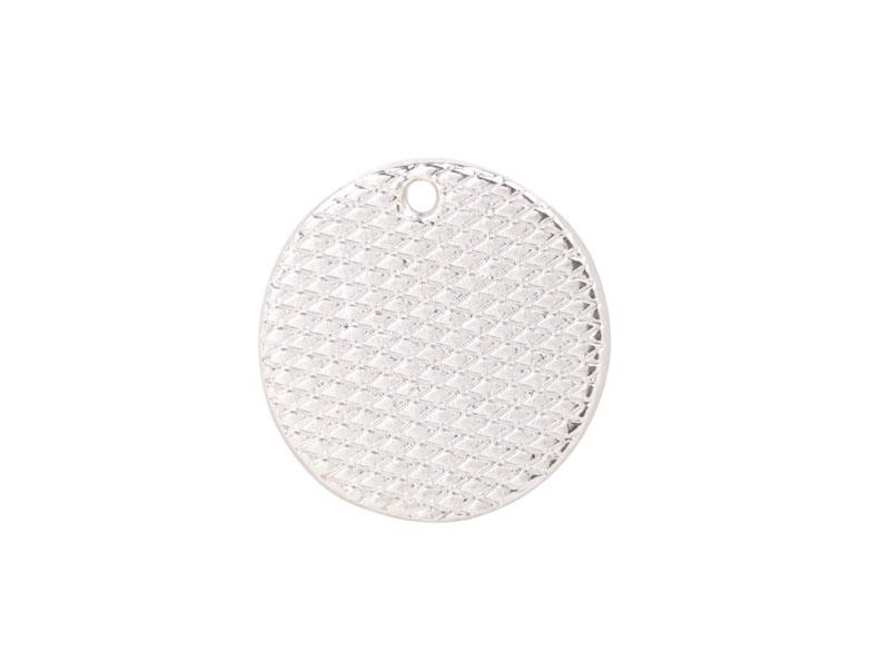 Fashion Silver Plate metal 18mm Smooth Round Charm for Logo Print for sale #92259