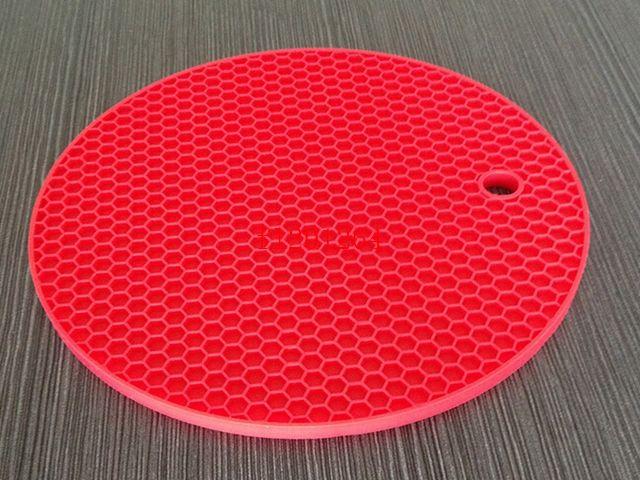 I colori liberi di trasporto 10 la scelta scelgono i cuscinetti di tabella rotondi della stuoia del silicone della dimensione 18cm, /
