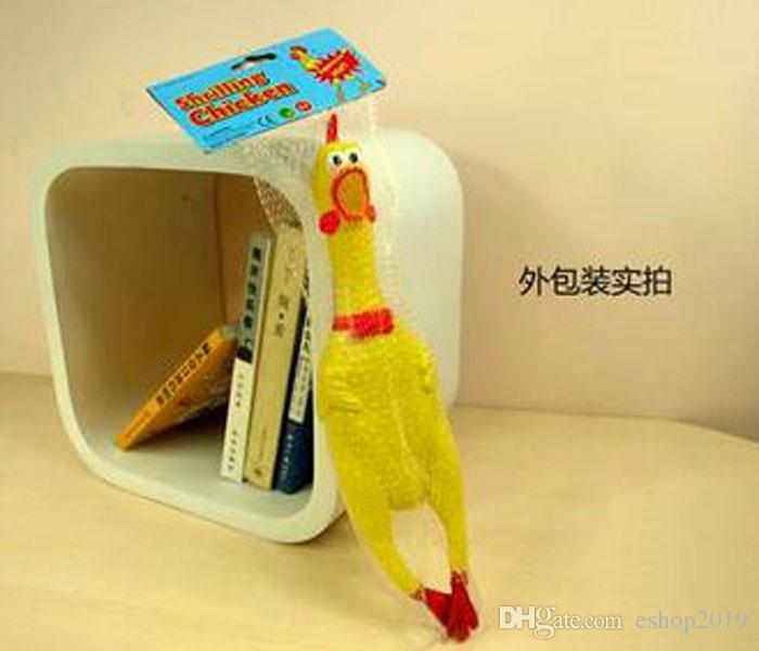 جودة عالية الحجم M 31CM حيوانات أليفة الضغط المطاط لعبة الحيوانات الأليفة اللعب صراخ الدجاج الكلب لعب الحيوانات الأليفة الإبداعية منتجات الشحن مجانا