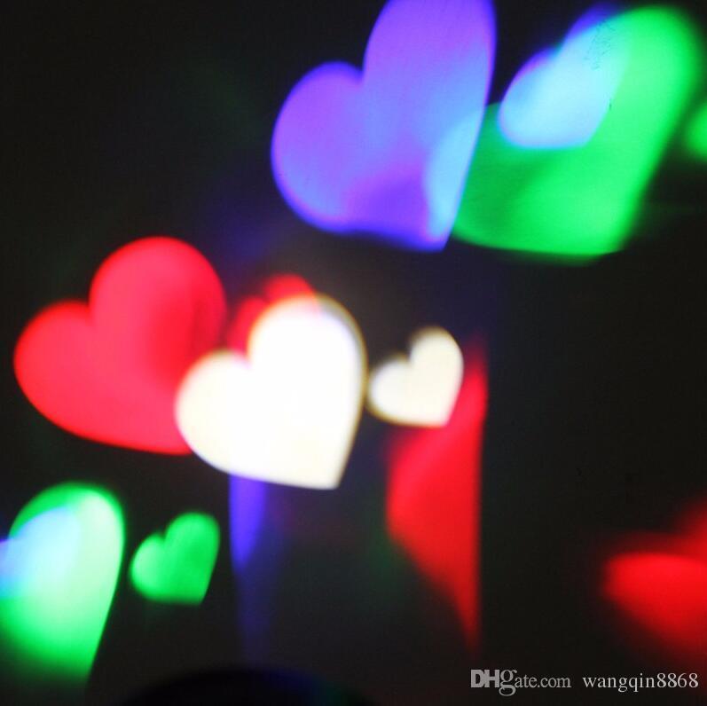 Novo Lâmpadas do Projetor LEVOU Luz Do Estágio Do Coração da neve aranha bowknot morcego Para Festa de Natal Paisagem Luz Jardim Da Lâmpada Ao Ar Livre