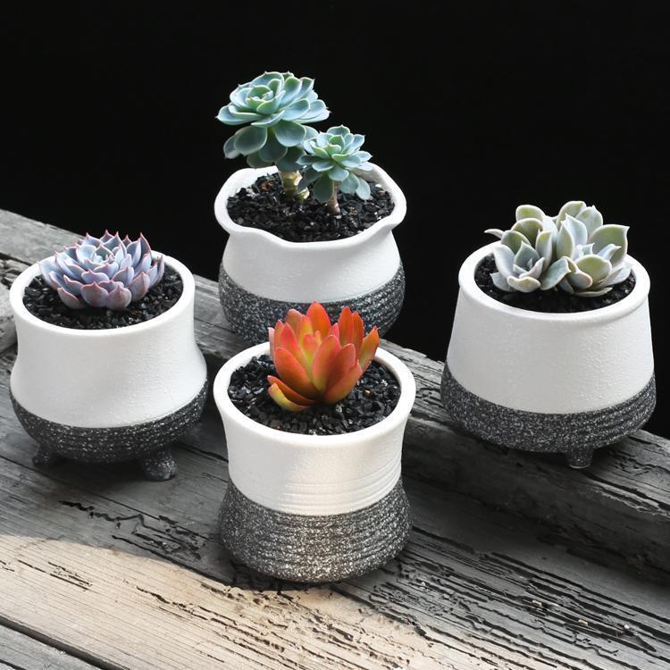 Cute Plant Pots Part - 31: 2017 Desktop Flowerpot Mini Ceramic Plant Pots Snow Glazed Flower Pots  Boxes Floor Decoration Small Cute Planter Pot From Chococlothes, $22.12 |  Dhgate.Com