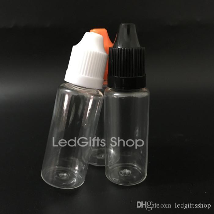 venda quente plástica PET Garrafas Garrafa Needle 20ml de plástico Dropper Bottles crianças Caps Proof E Líquido Garrafa Vazia