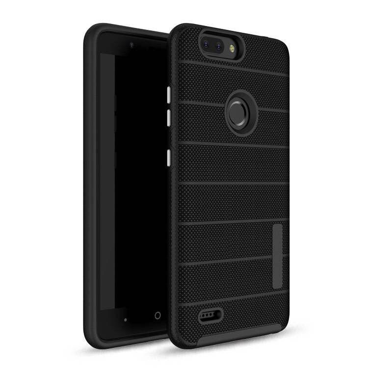 100 Unids híbrido de Silicona Duro + TPU Contraportada Slim Armor Case para ZTE Z982 N9517 N9137 caja del teléfono celular