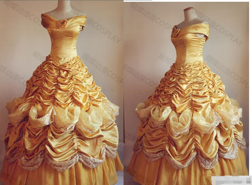 belle costume adult princess belle beauty and the beast costume cosplay halloween costumes for women dress custom belle costume adult princess belle beauty