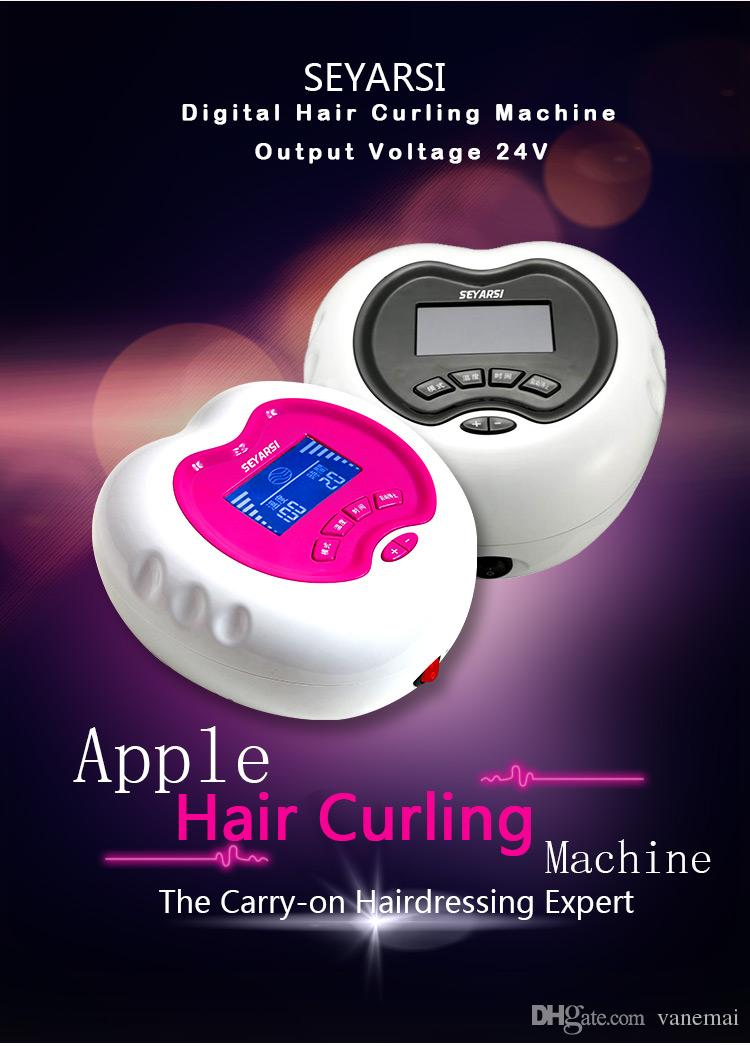 New Arrival 220V Mini Hair Curling Machine,Hair Perming Machine, Apple Shape, Color Pink, 24V output