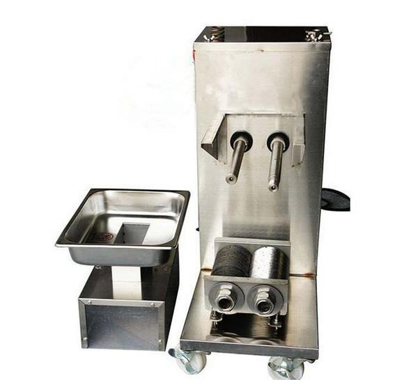 Wholesale  - 縦型肉切断機、110/220 / 240Vミートカッター、プーリー、500kg /時/新鮮な食肉スライス機付きミートスライサー