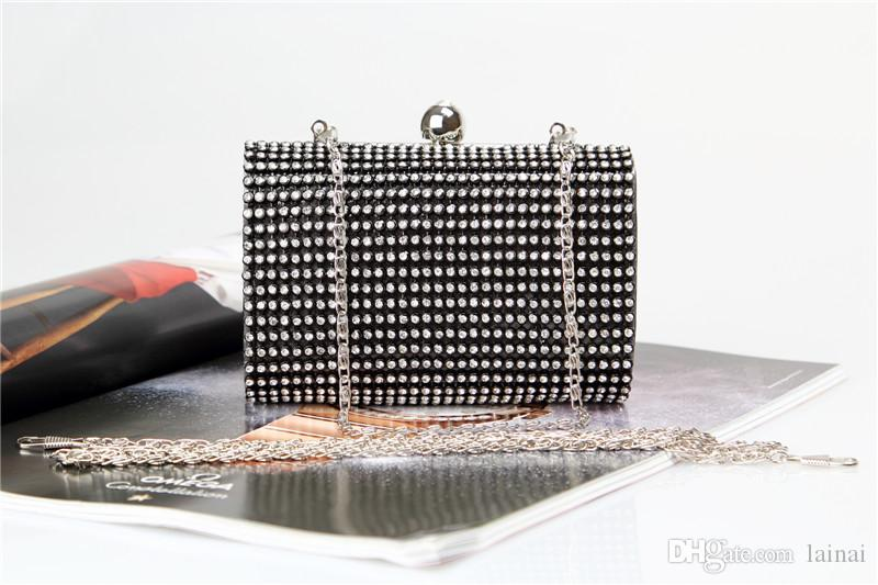 Factory/Retaill/Wholesale brand new wellmade adorable diamond evening bag/clutch with satin for wedding/banquet/party/porm
