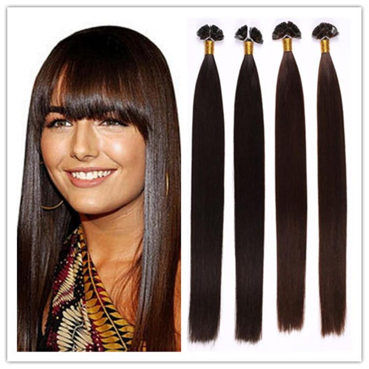 18 28 Russian Prebonded Keratin Flat Tip Hair Extensions 100 Remy 1g S 100g Pc 300gStock Heat Bonded