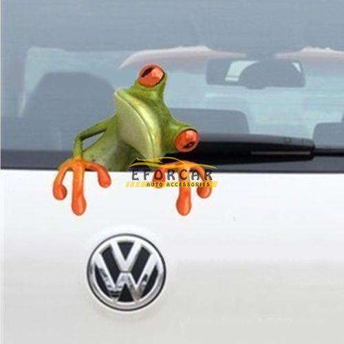 Fashion 3D stereo animal sticker cute funny Realistic cartoon frog car stickers Truck Window Vinyl Decal Sticker