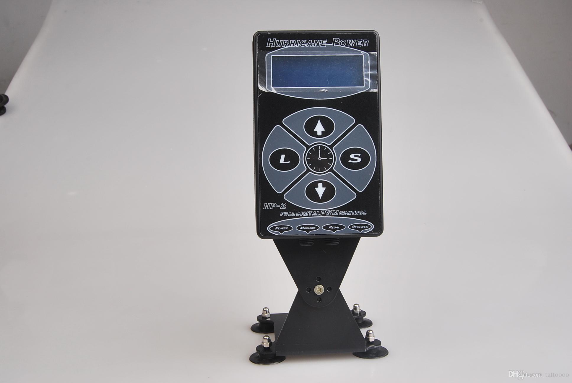 Dual Digital LCD Svart Hurricane Tattoo Strömförsörjning HP-2 Billiga Pris P010diy