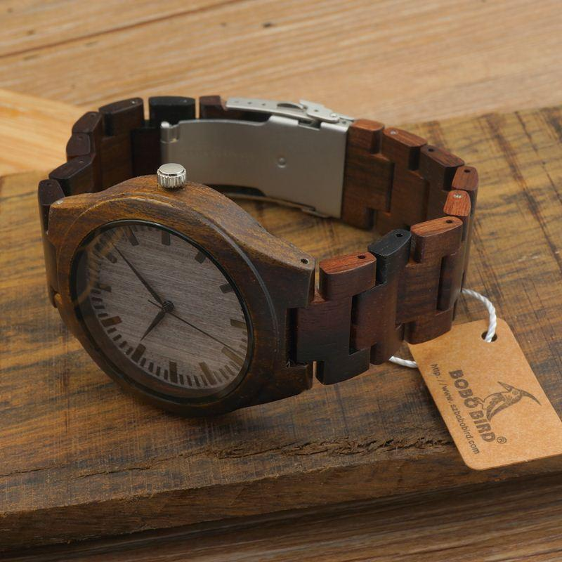 Best Gift For Men Wood Watch With Wood Strap Wooden Quartz ...