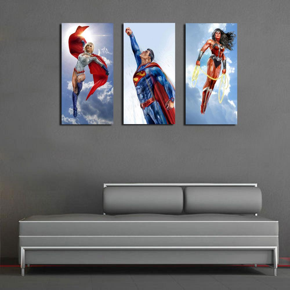 Wonder Woman Wall Art 2017 original us high tech hd canvas print home decor wall art
