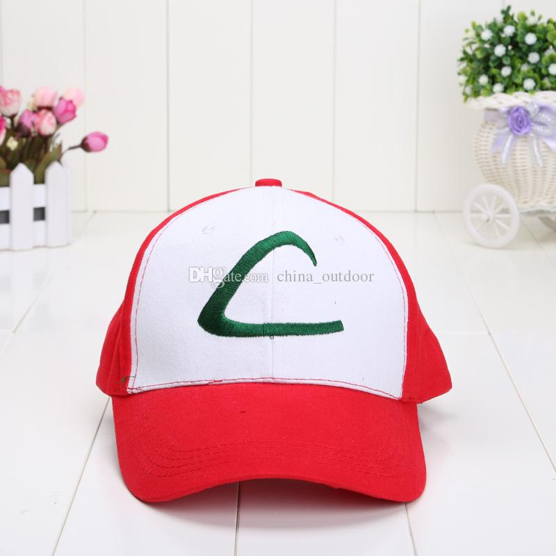 3 adet / grup Cep Kap Kül Ketchum Pikachu Topu Pikachu Beyzbol Şapkası çocuk şapka oyuncak Ücretsiz Nakliye Caps