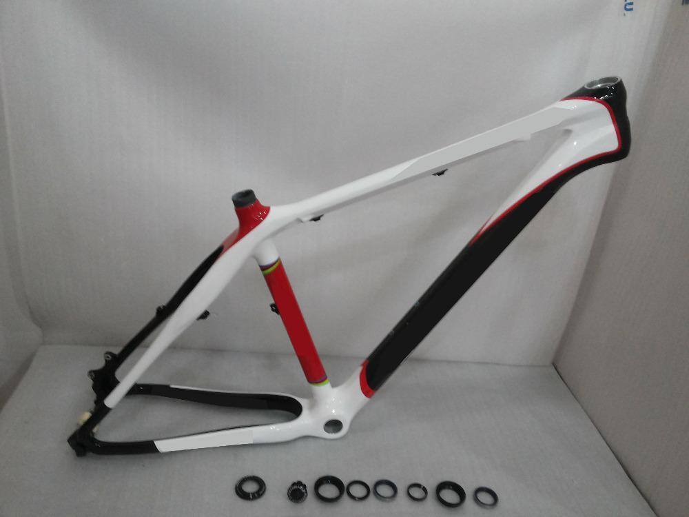 new mountain bike frame made in carbon t800 size 175 19 21 mtb 26er carbon frame red white black color cruiser bike frames dirt bike frames from - Dirt Bike Frame