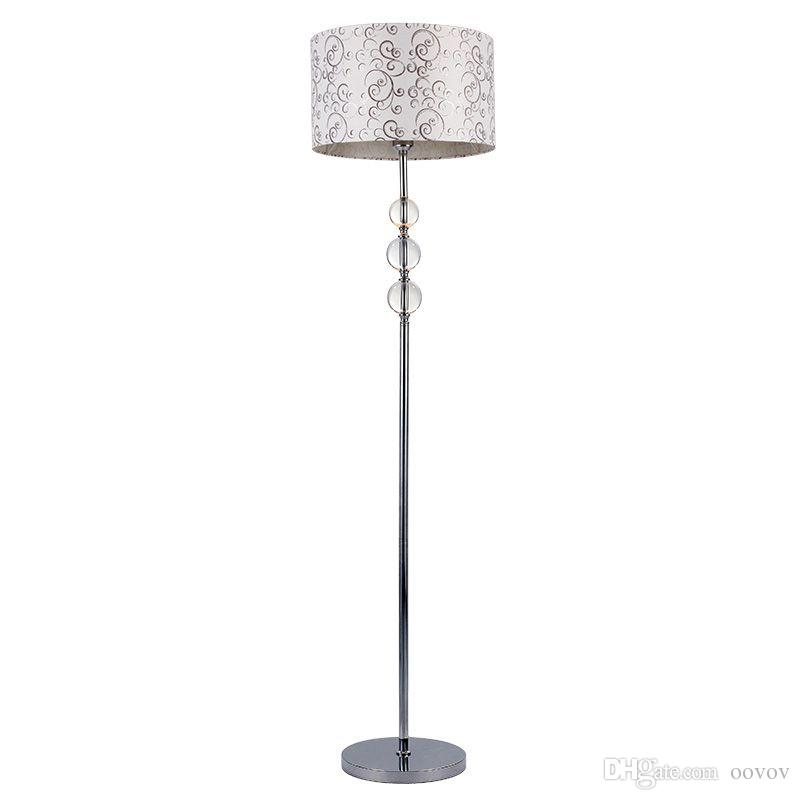 2017 Blue Crystal Fabric Living Room Floor Lamps European Simple ...