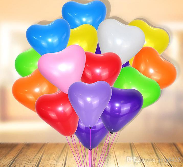 Mix Clolors Love Balloon Christmas Day Heart Shape Balloons