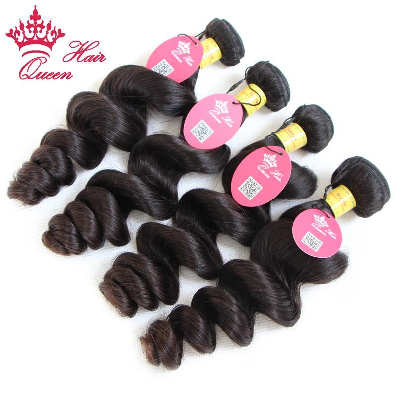 Qieen Cheveux produits Péruvienne vierge cheveux Lâche vague 100% de cheveux humains / Livraison gratuite par DHL
