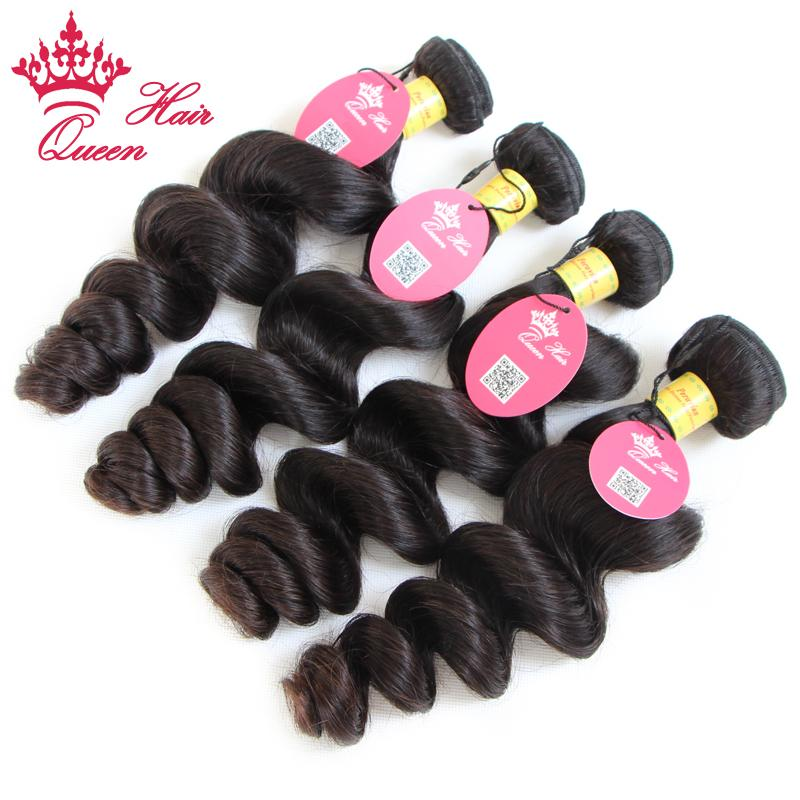 Queen Hair Products Peruaanse Virgin Losse Wave Hair Extensions Onverwerkte Haar 12 tot 28 Beschikbaar
