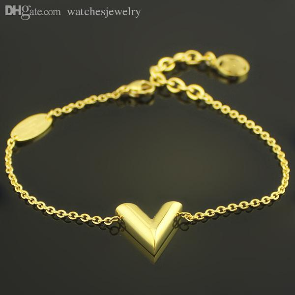 WholesaleThe Highend Jewelry V Bracelet Shaped 18 Karat Gold