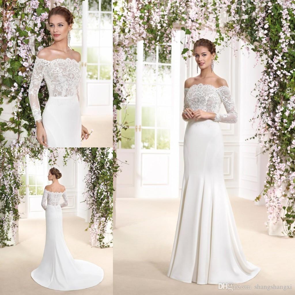 High Quality 2018 Vintage Sheath Wedding Dresses Fabulous