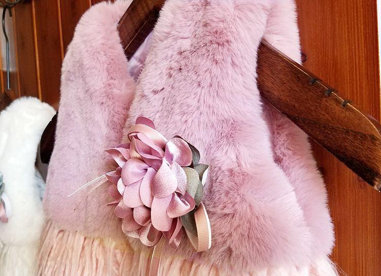Ins Hot European Fashion Bambini Floreale Outwear 2-6 Anni Neonate Autunno Inverno Peluche Spessa Cappotto Abbigliamento bambini all'ingrosso