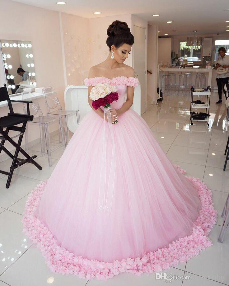 Most Beautiful Ball Gown Wedding Dresses: Pink 2019 Masquerade Ball Gown Quinceanera Dresses Pricess