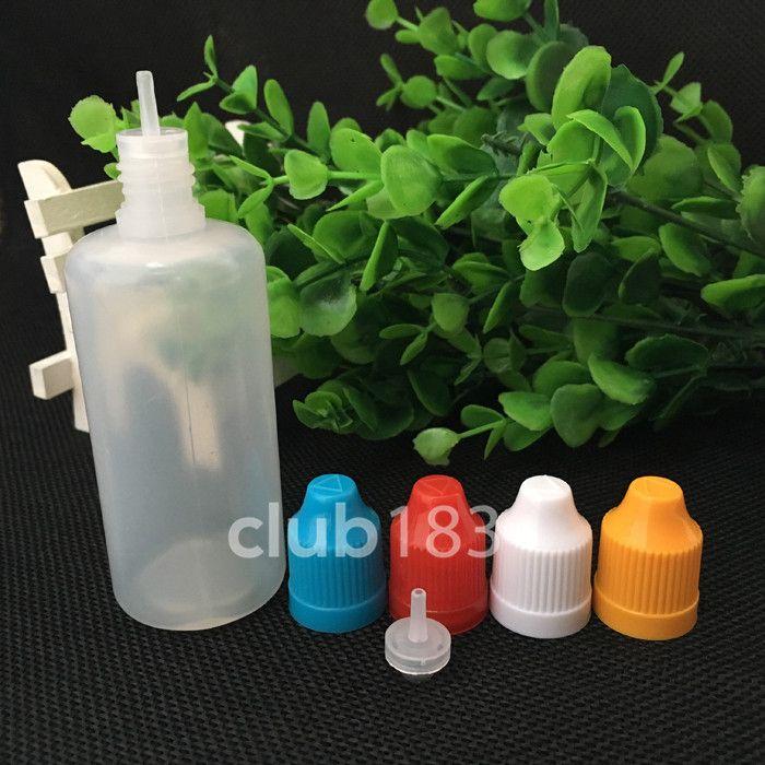 Envío rápido de la botella de 60 ml Suave Estilo aguja de plástico Botellas cuentagotas Niño tapas a prueba LDPE Cig E E Líquido Botella Vacía En Stock