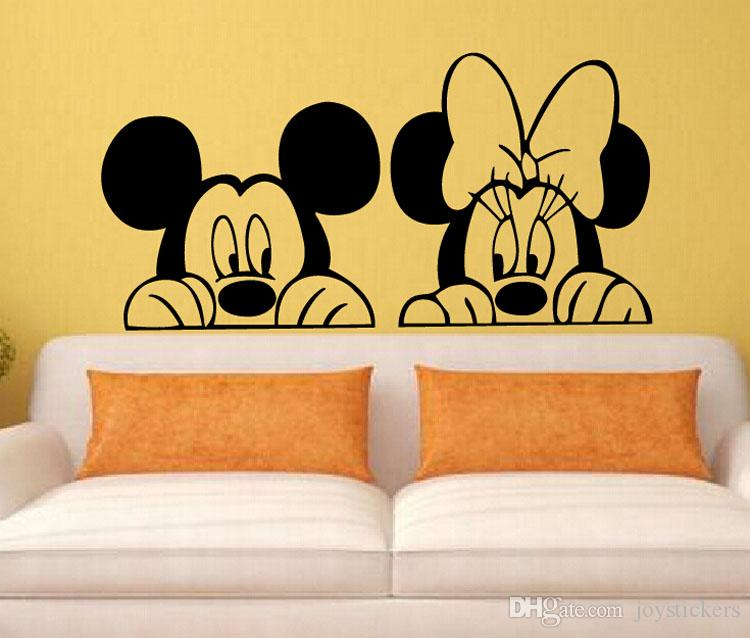 Decal Removable Home Decor Vinyl Decal Cartoon Mickey Minnie Mouse Baby  Room Anime Sticker Wall Paper Wall Sticker Wall Stickers Design Wall  Stickers ... Amazing Ideas