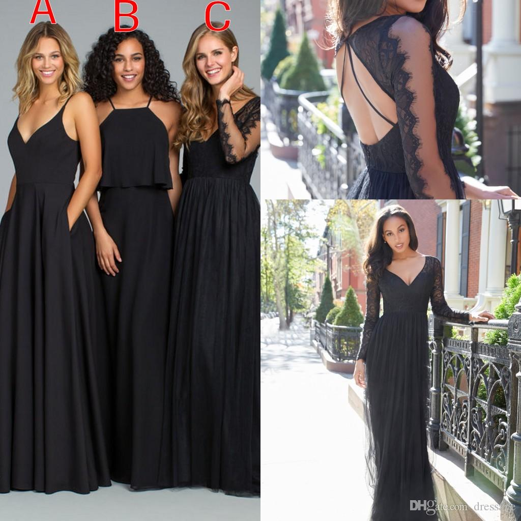 Vintage country navy blue bridesmaid dresses 2018 a line chiffon vintage country navy blue bridesmaid dresses 2018 a line chiffon long cheap sweetheart two pieces junior bridesmaids gowns destination wedding bridesmaid ombrellifo Image collections
