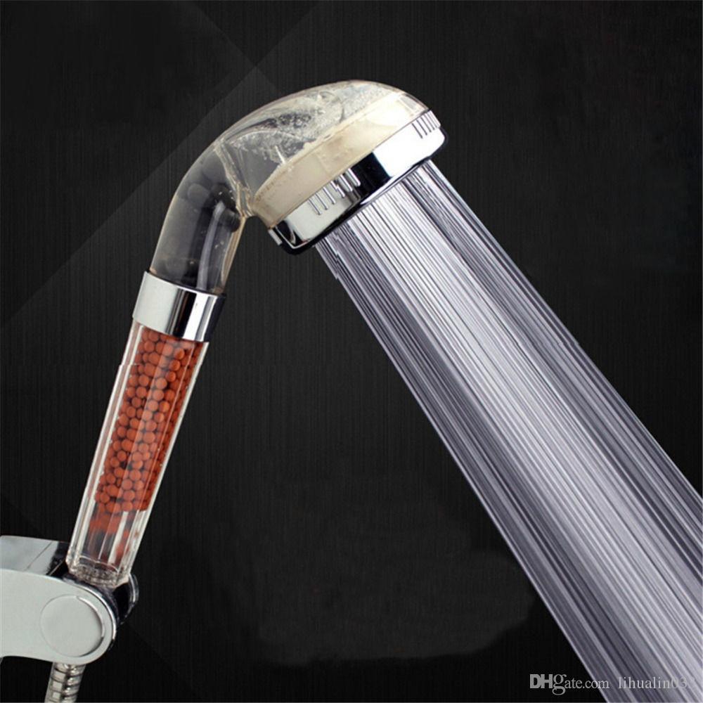 شحن مجاني Dia.6cm جديد أنيون سبا لتوفير المياه الترشيح رأس دش ارتفاع ضغط المحمولة تصفية الصحة